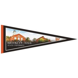 "9"" x 24"" Digitally Printed Single Sided Custom Felt Pennant"